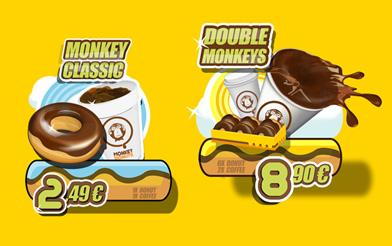 Рекламные экраны Monkey Donuts